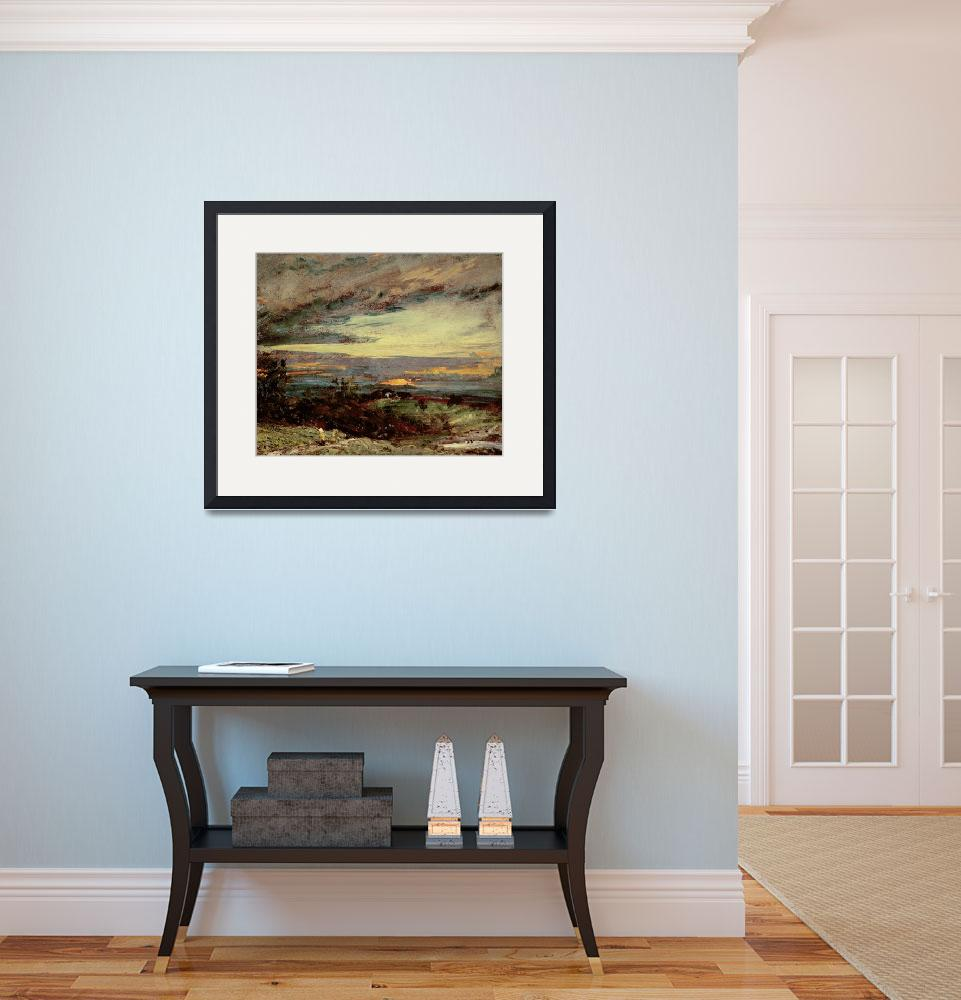 """""""Sunset study of Hampstead, looking towards Harrow&quot  by fineartmasters"""