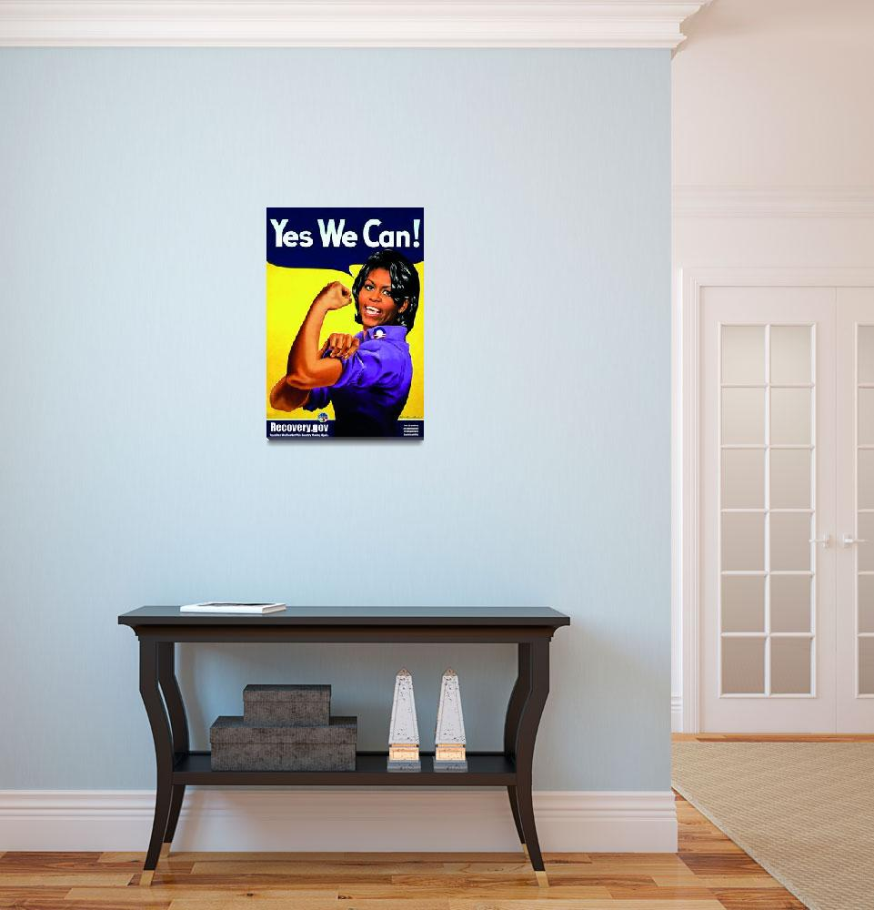 """""""""""Recovery.gov"""" Michele Obama as Rosie the riveter""""  (2009) by O"""