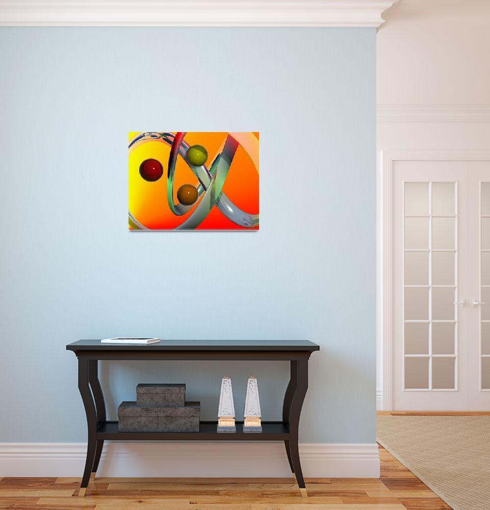 """three balls abstract art&quot  (2008) by bmdino"