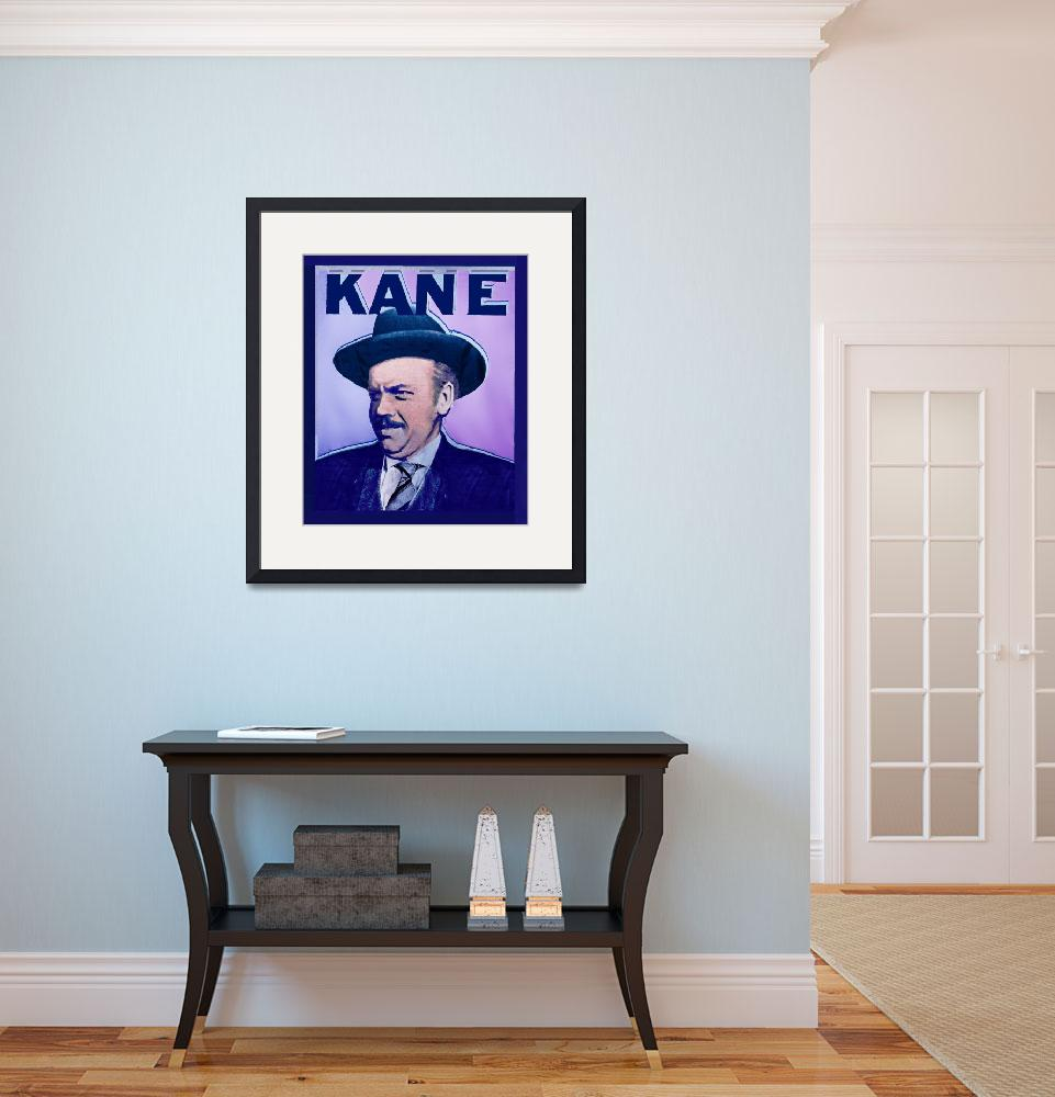 """""""Citizen Kane Orson Welles Campaign Poster&quot  by RubinoFineArt"""