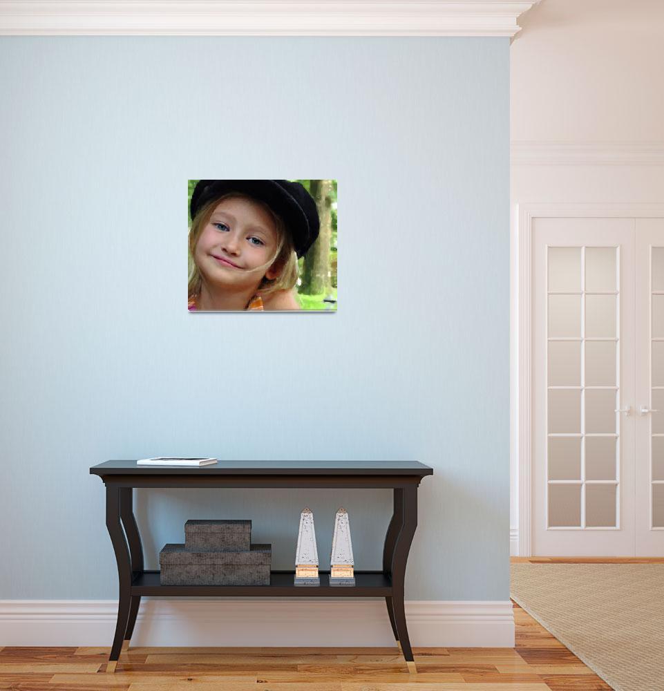 """Little Girl Wearing Hat""  by barbee"