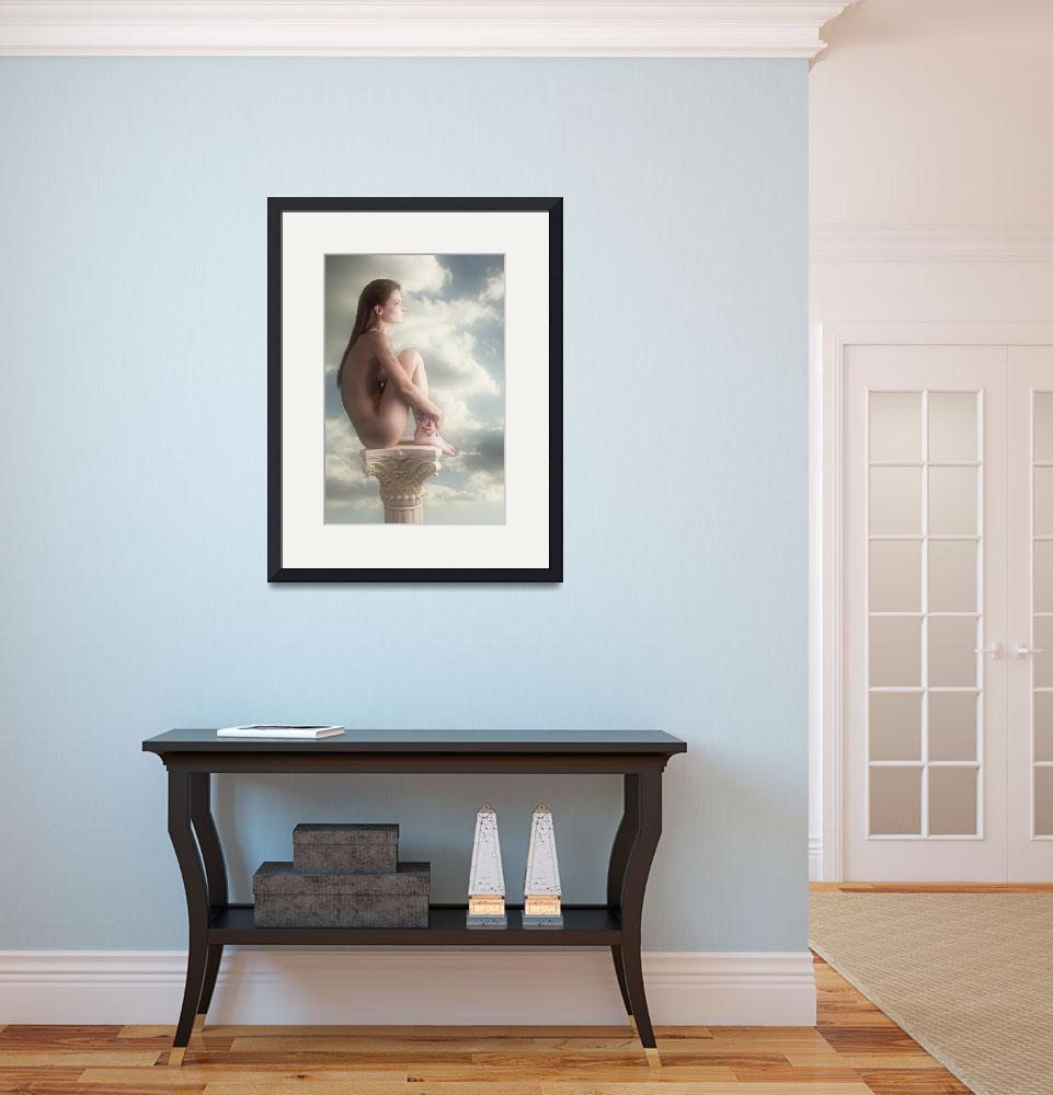 """Thoughtful Nude In the Clouds Nude5038.2&quot  (2013) by KendreeMiller"