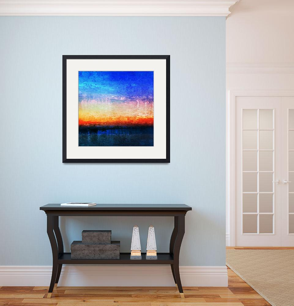 """""""15b Abstract Seascape Digital Painting&quot  (2017) by Ricardos"""