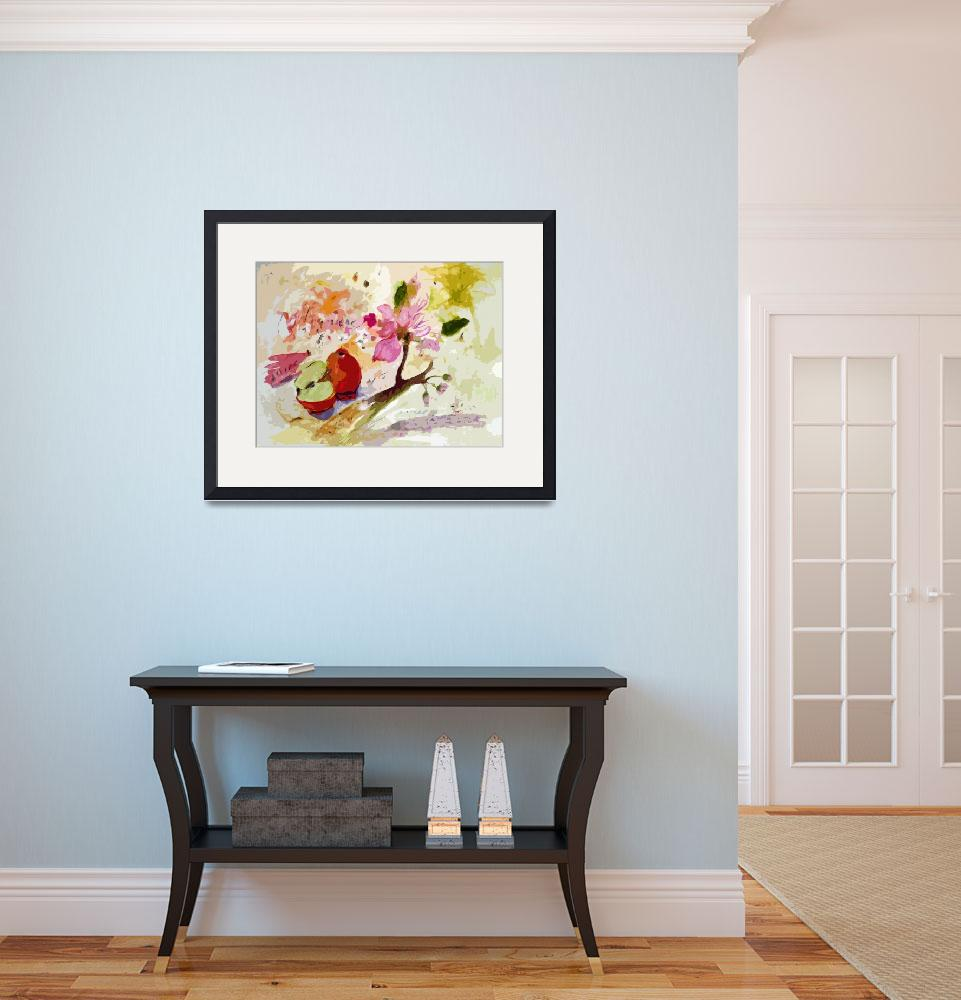 """""""Abstract Apples and Blossoms by Ginette&quot  (2012) by GinetteCallaway"""