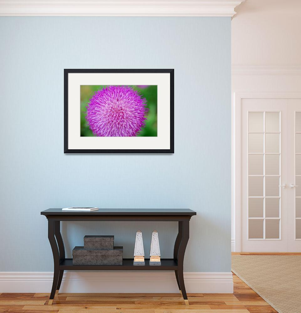 """purple fuzz ball with ants""  (2009) by imagineit"