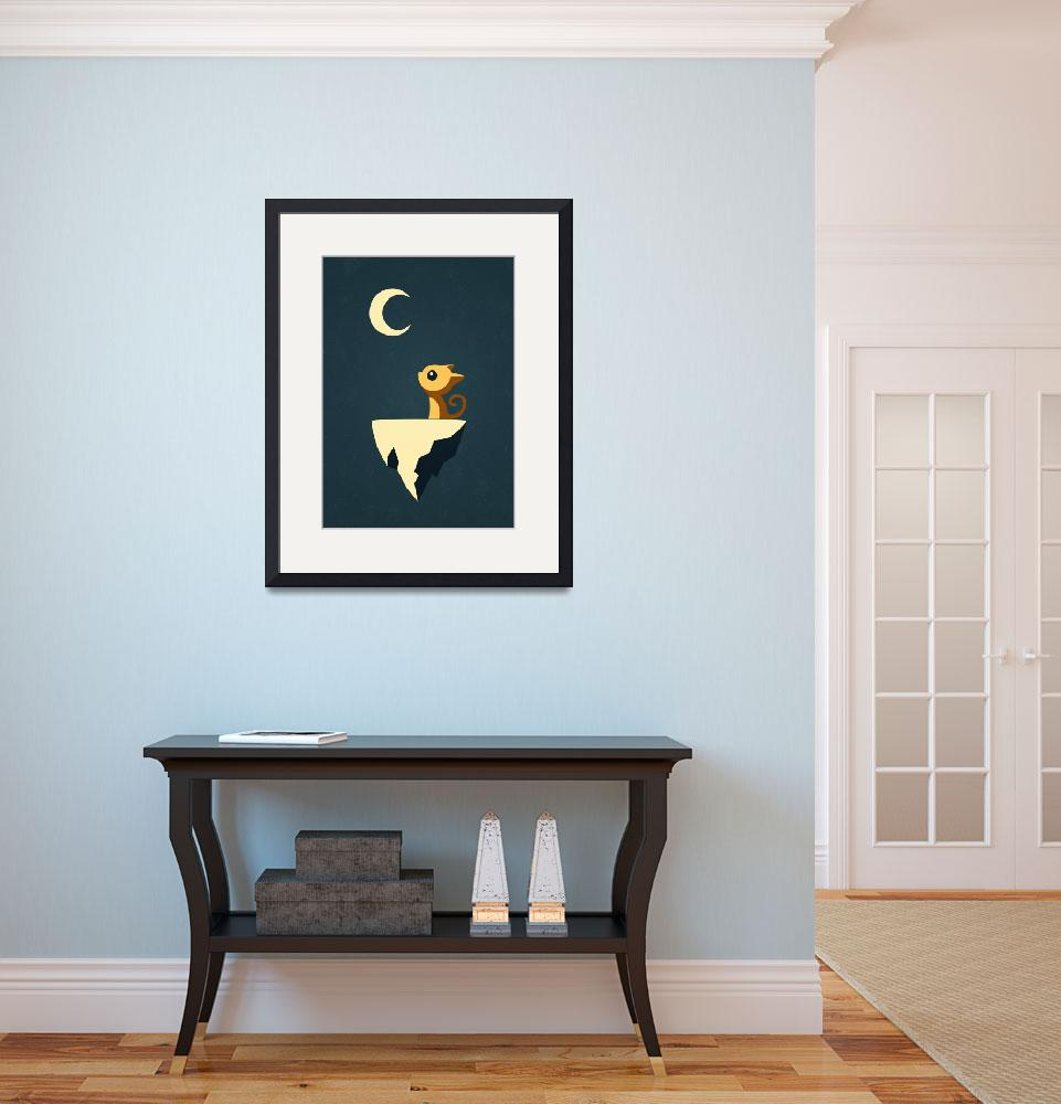 """""""Moon Cat""""  (2012) by freeminds"""