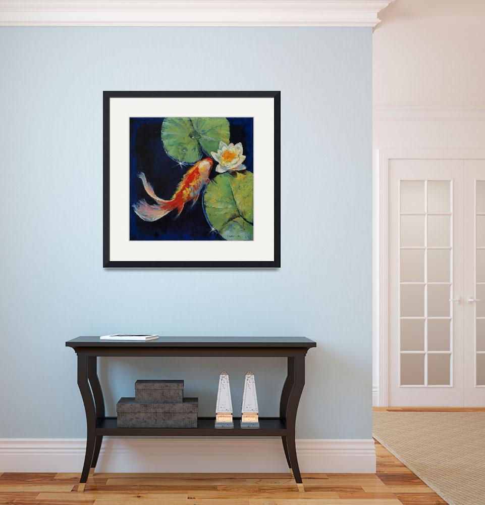 """""""Koi and White Lily&quot  by creese"""