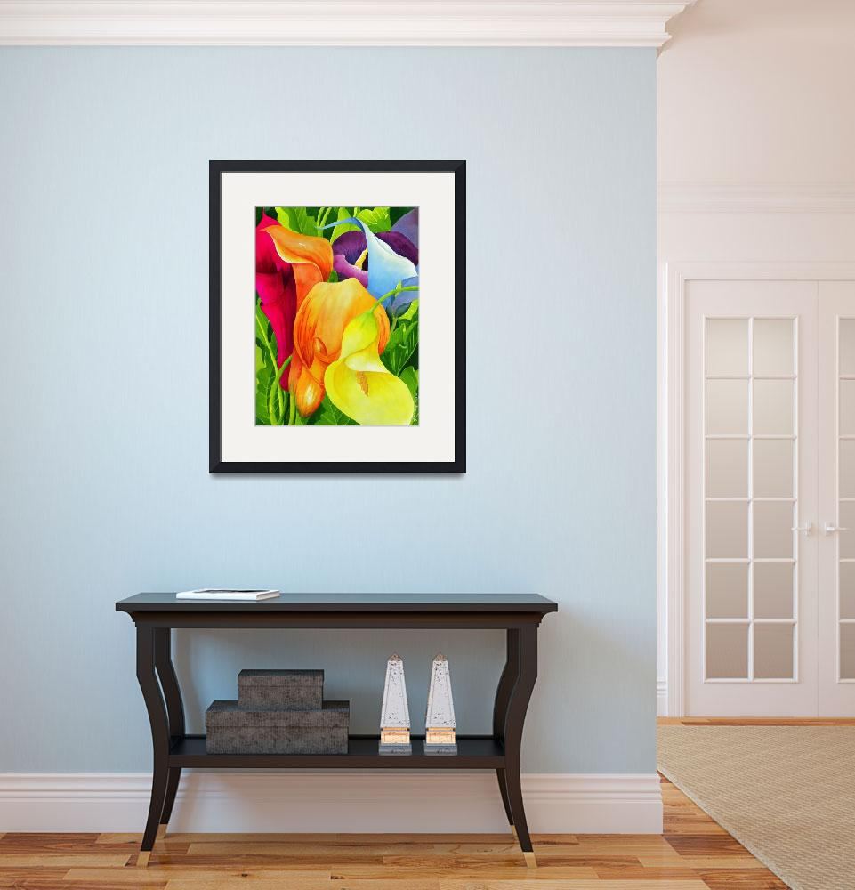 """""""Calla Lily Rainbow&quot  (2010) by janlan44"""