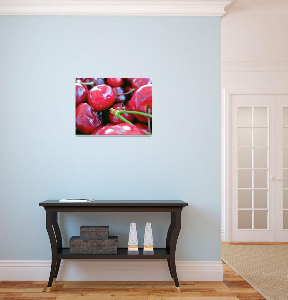 """Cherries with Select Stems&quot  by sabreentertainment"