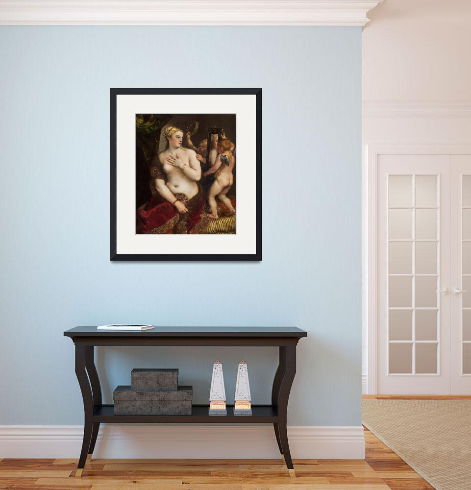 """""""Titian_-_Venus_with_a_...ogle_Art_Project&quot  by buddakats1"""