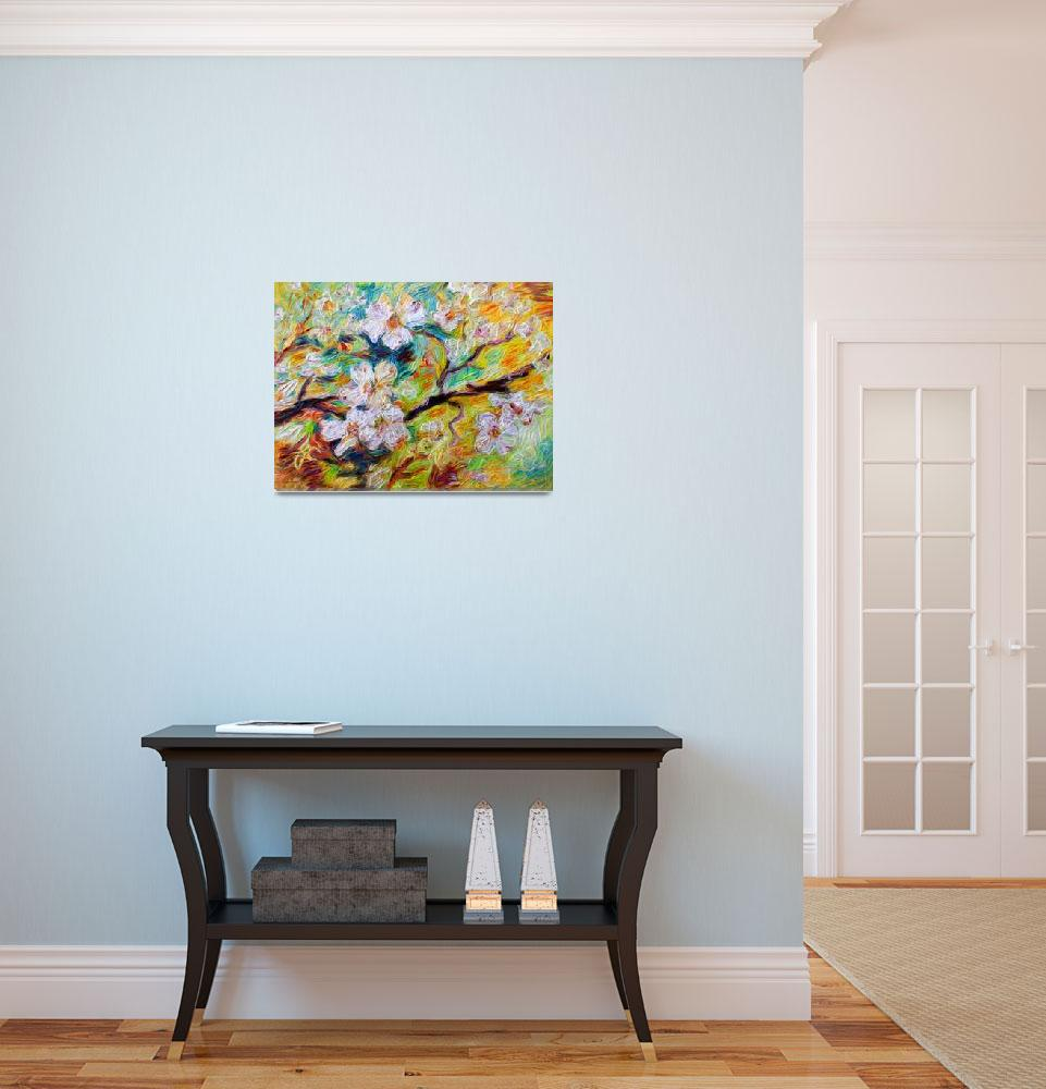 """""""Dogwood Blossoms Modern Decorative Art&quot  (2015) by GinetteCallaway"""