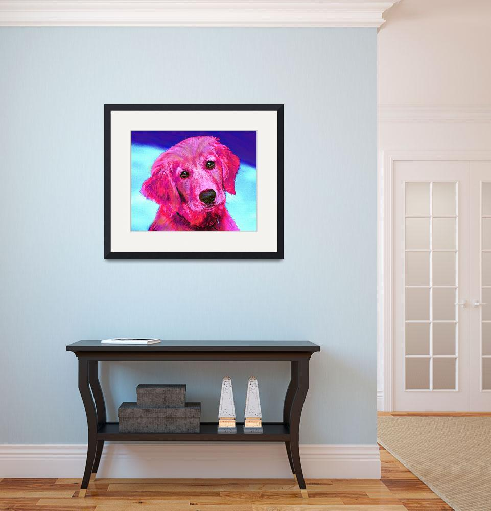 """pink retriever&quot  (2011) by pietrastone"