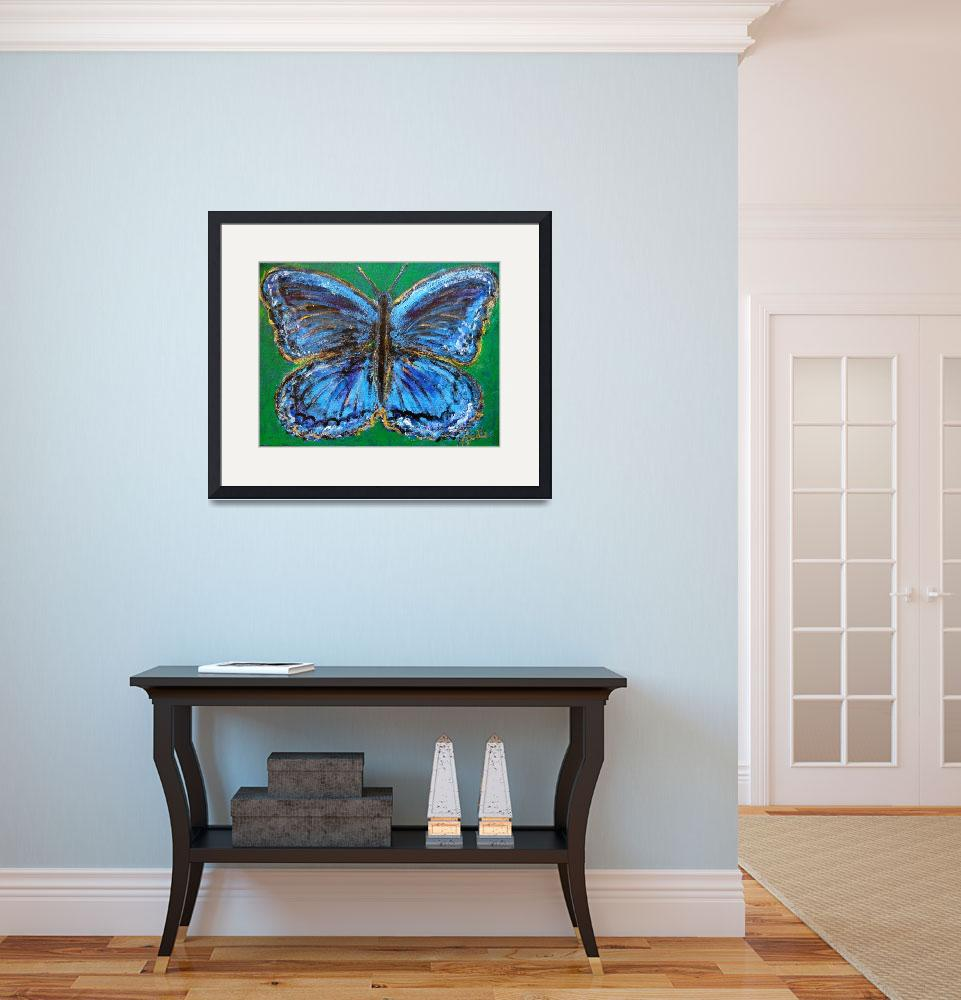 """""""Butterfly of Blueness&quot  (2010) by HeidiZeile"""