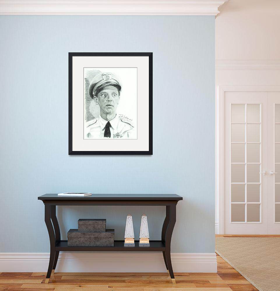 """Don Knotts (barney fife)&quot  (2013) by DarronCollinsArt"