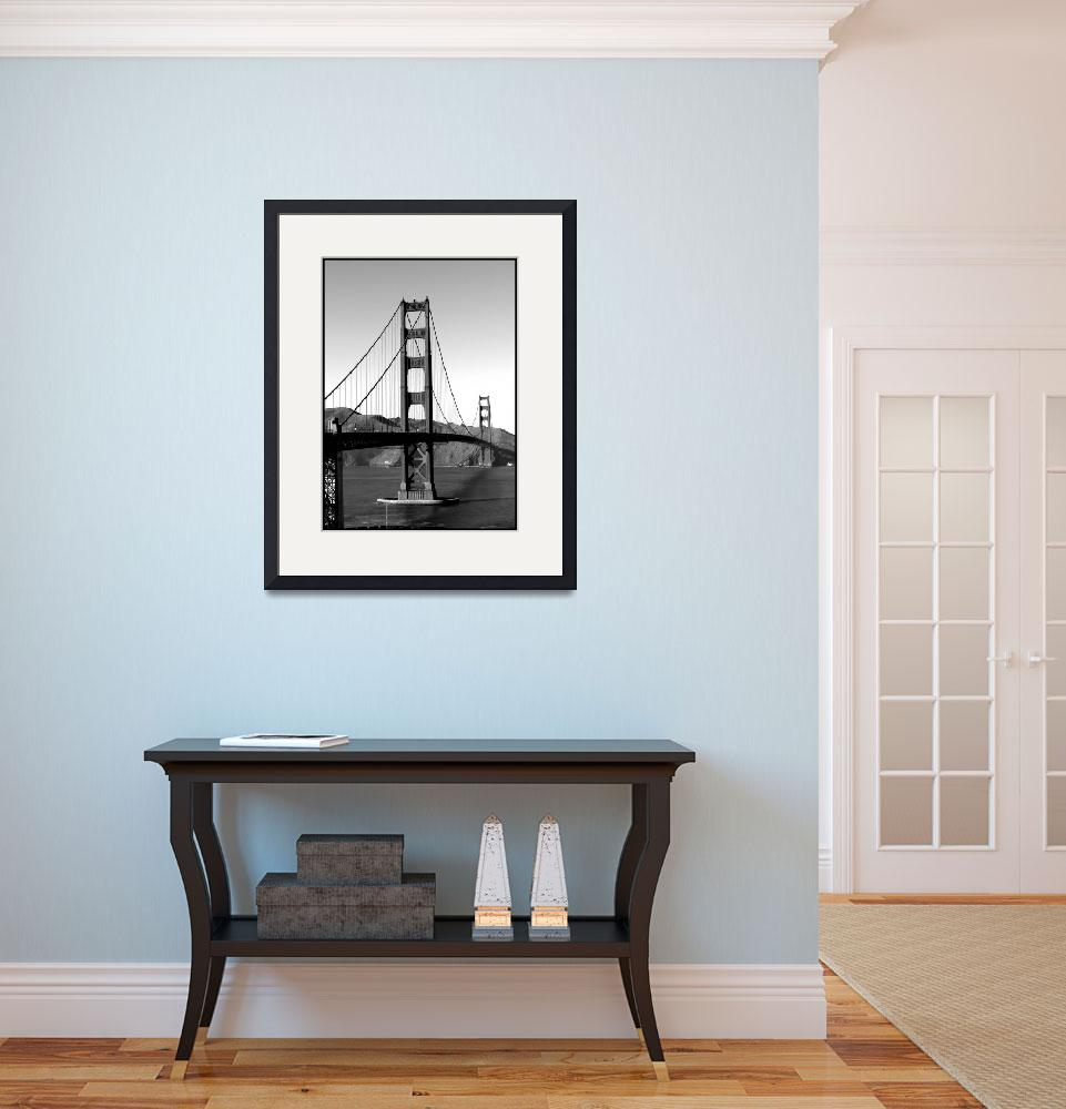 """Golden Gate Bridge {B&W}&quot  (2010) by crystalliora"