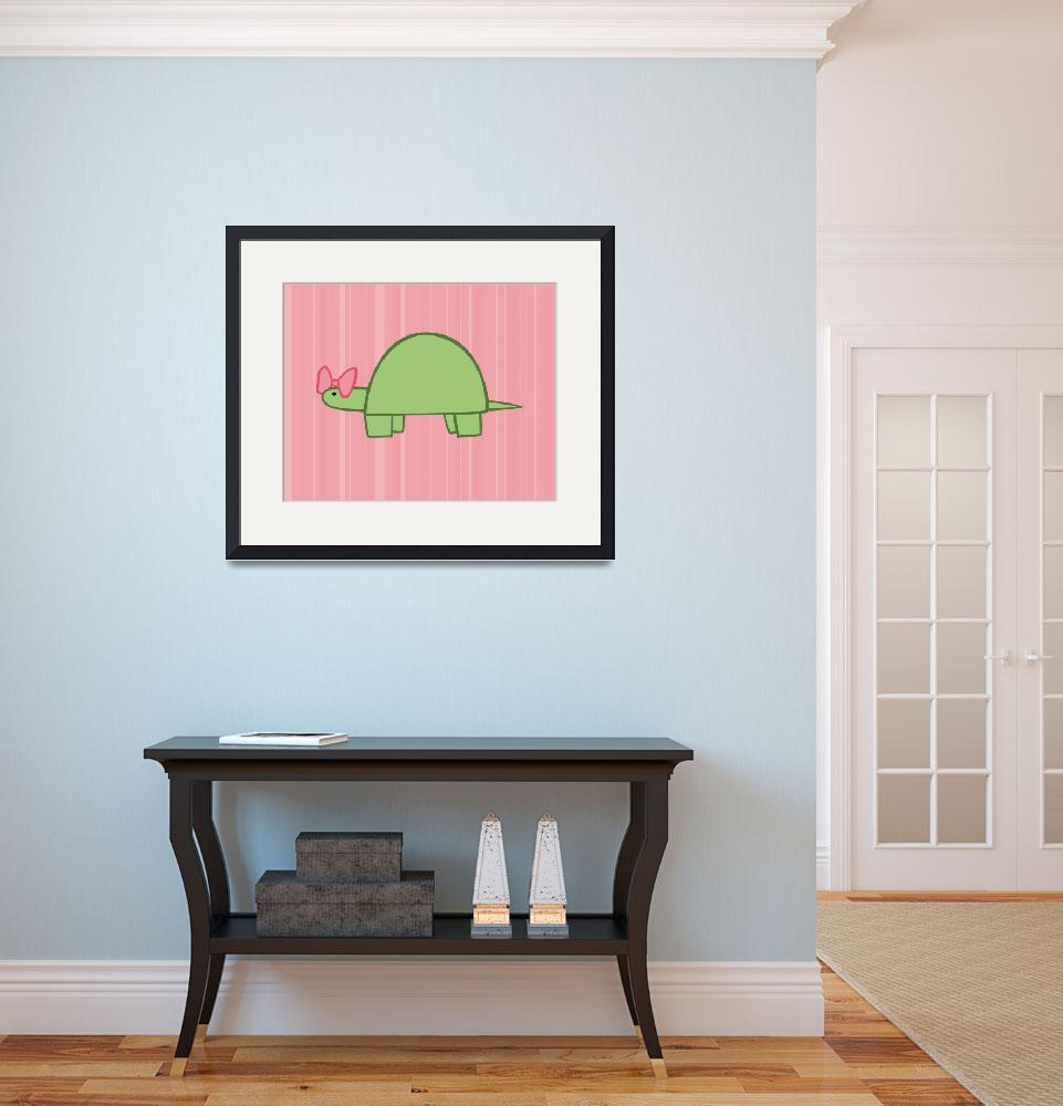 """Girl Turtle Nursery Art""  (2011) by ChristyBeckwith"