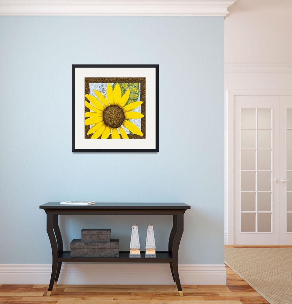 """""""Wee Sunflower 3""""  (2009) by ArtbyJudyNewcomb"""