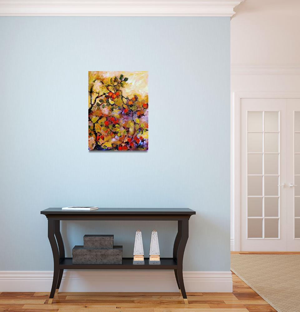 """Rosehips Modern Impressionism Oil Painting&quot  (2006) by GinetteCallaway"