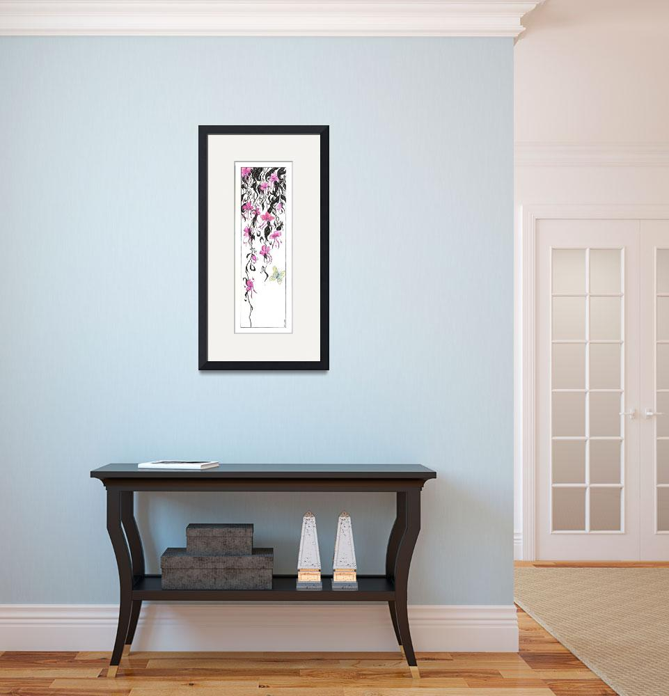 """""""Orchid Mantis (org. 10""""x30"""")&quot  (2010) by KenRileyArt"""