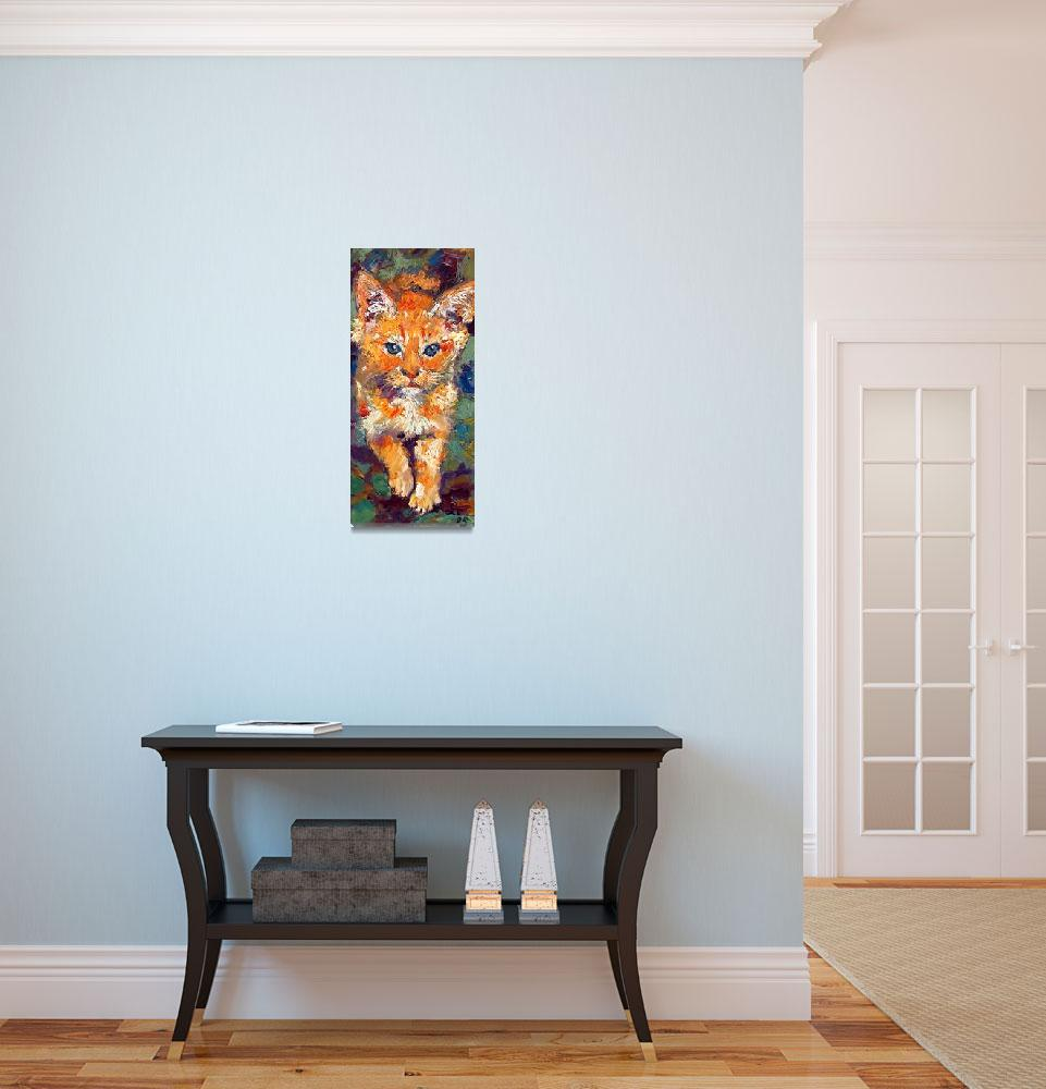 """""""Kitten Cat Walking Oil Painting by Ginette Callaw&quot  (2005) by GinetteCallaway"""