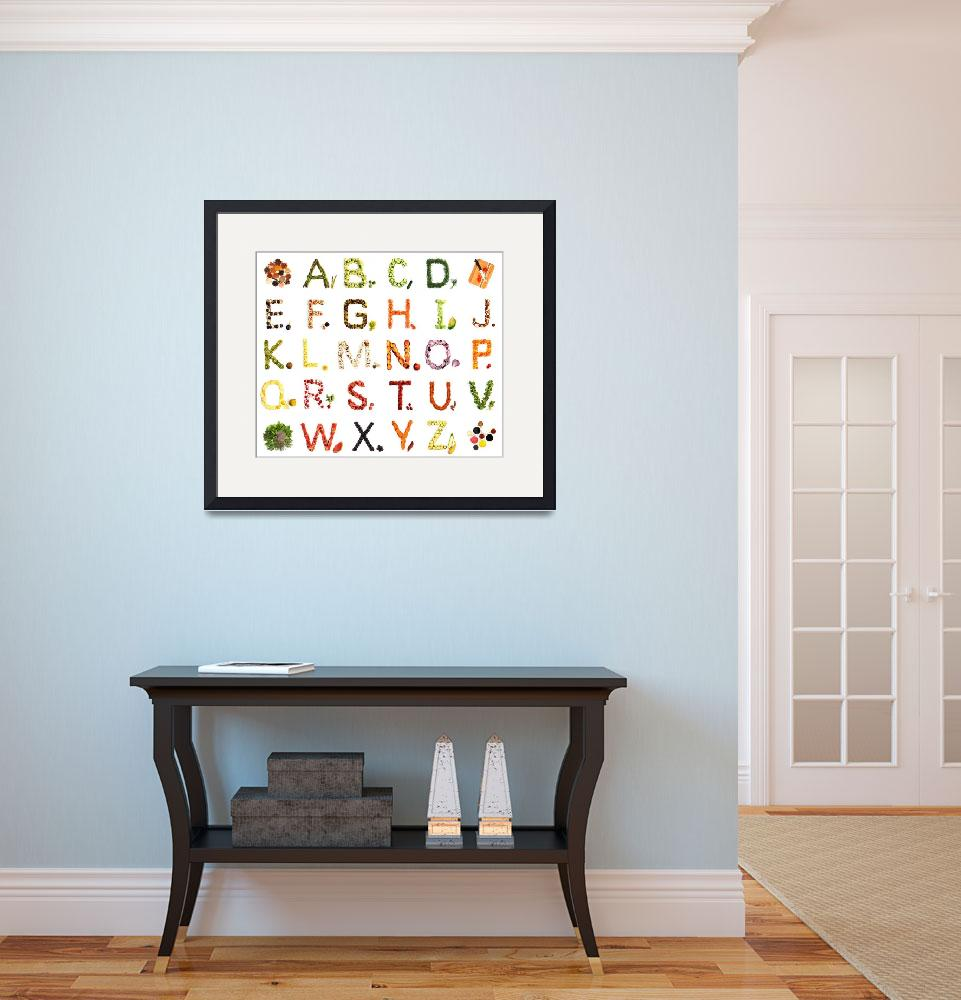 """""""Kitchen Alphabet&quot  by bufo"""