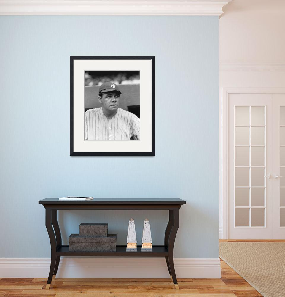 """""""George H. Babe Ruth&quot  by RetroImagesArchive"""