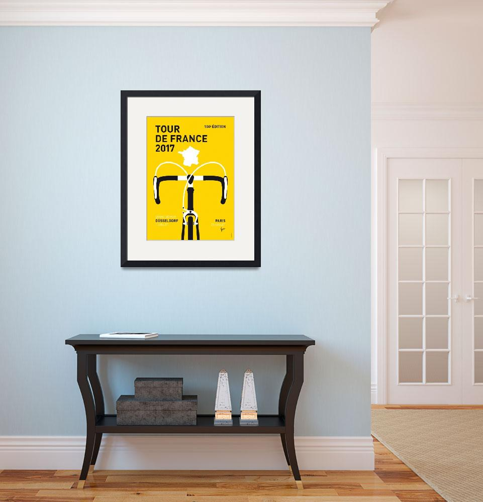 """""""MY TOUR DE FRANCE MINIMAL POSTER 2017&quot  by Chungkong"""