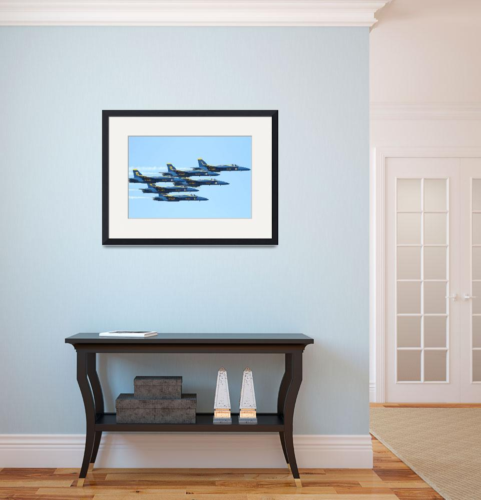 """""""The Blue Angels Team""""  (2010) by wingsdomain"""