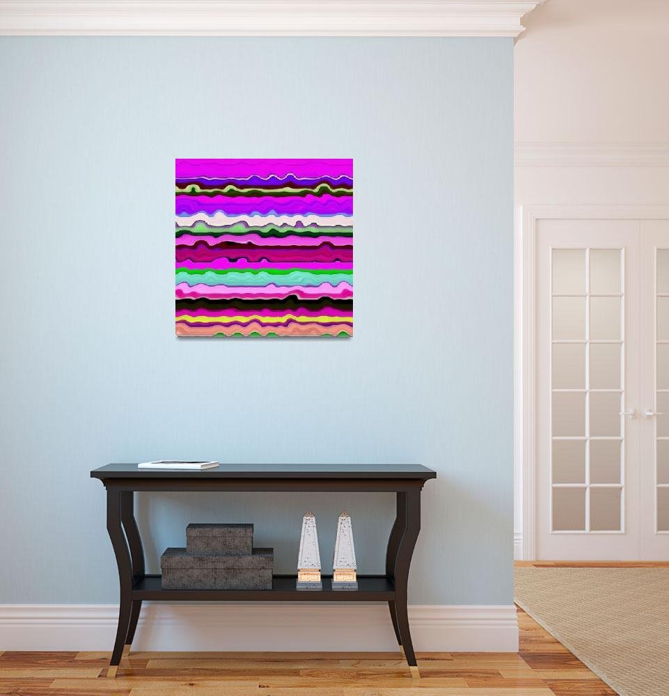 """""""Color Waves No. 3&quot  (2014) by Michelle1991"""