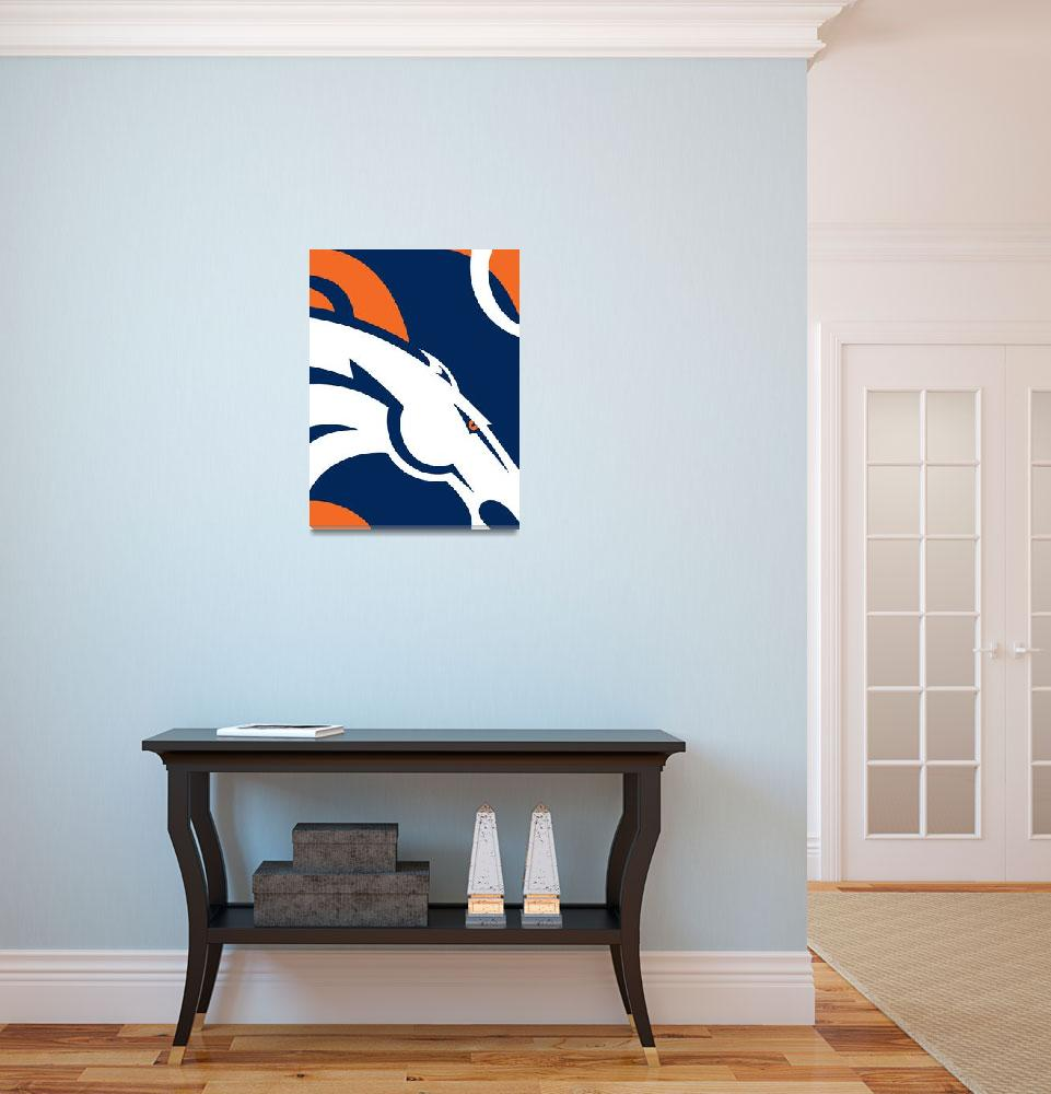 """Denver Broncos Football&quot  (2016) by RubinoFineArt"