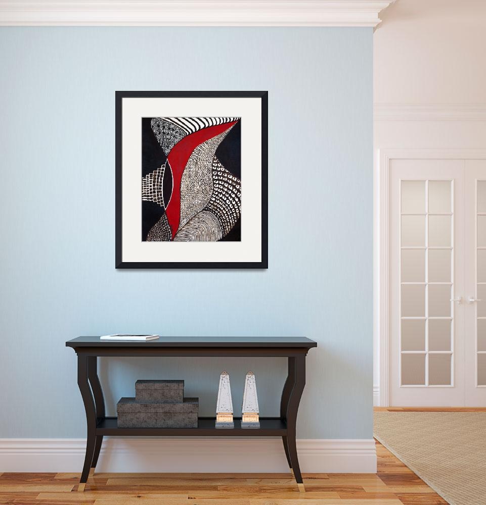 """""""Black and White and Red&quot  (2010) by GertrudeArt"""