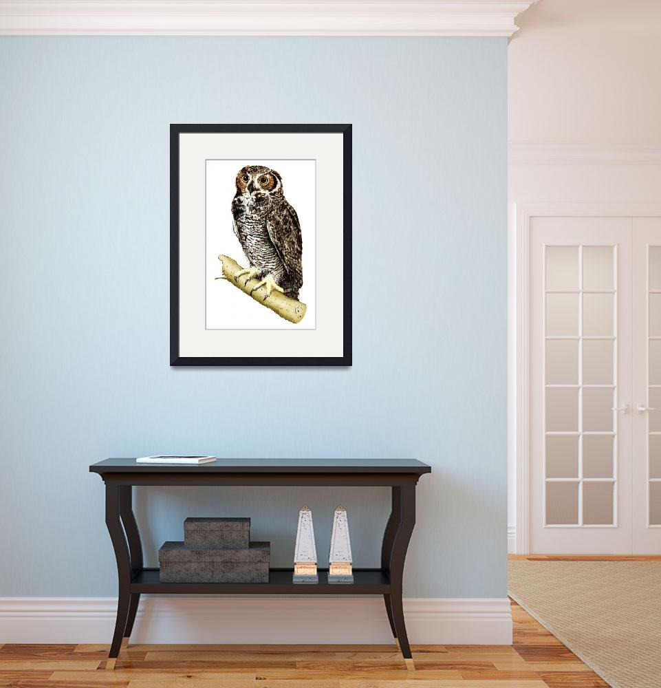 """""""Great-Horned Owl&quot  by inkart"""