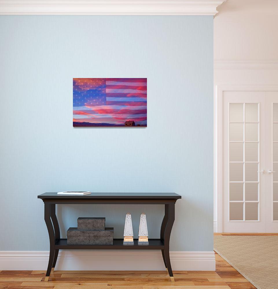 """Patriotic Rural America&quot  (2012) by lightningman"