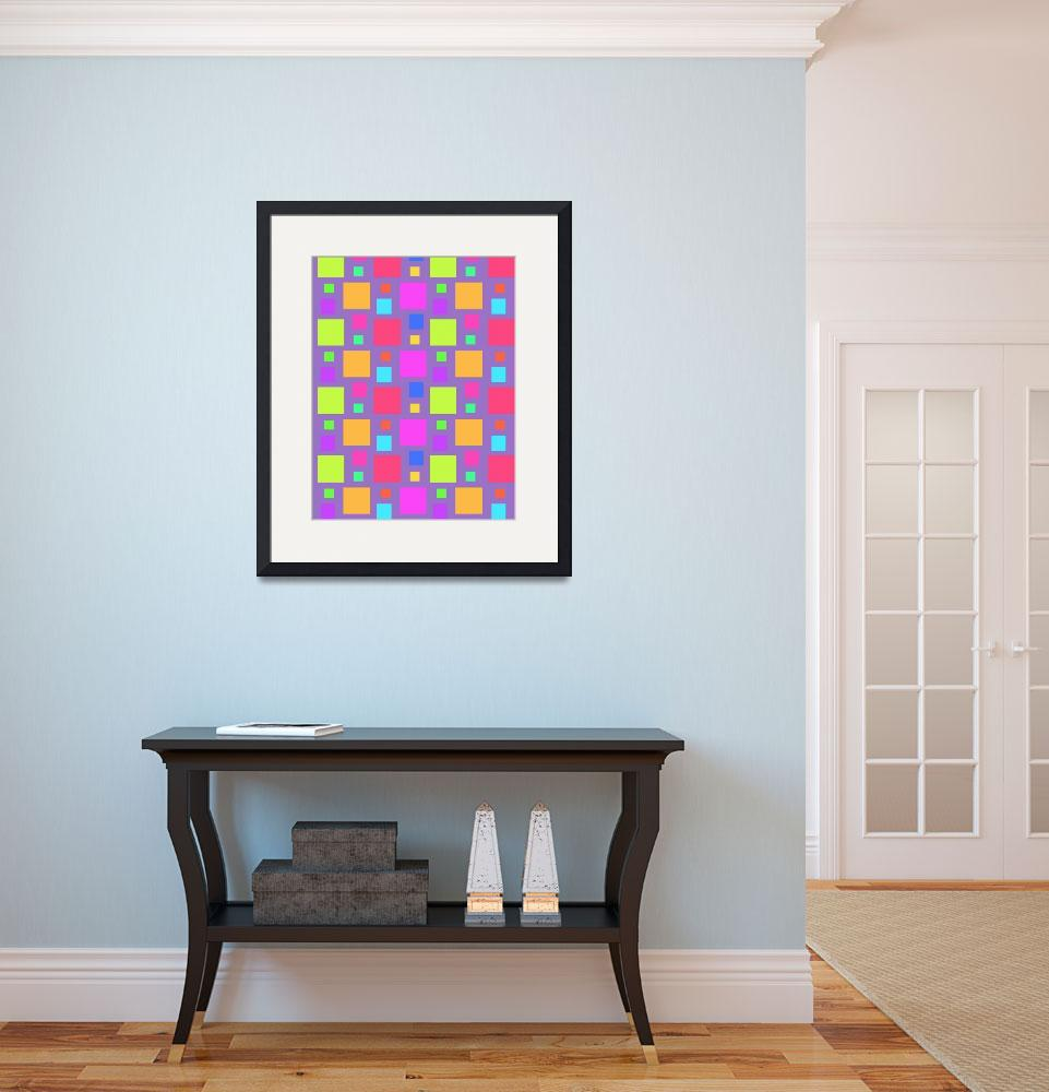 """""""Multicoloured Squares, 2011&quot  by fineartmasters"""