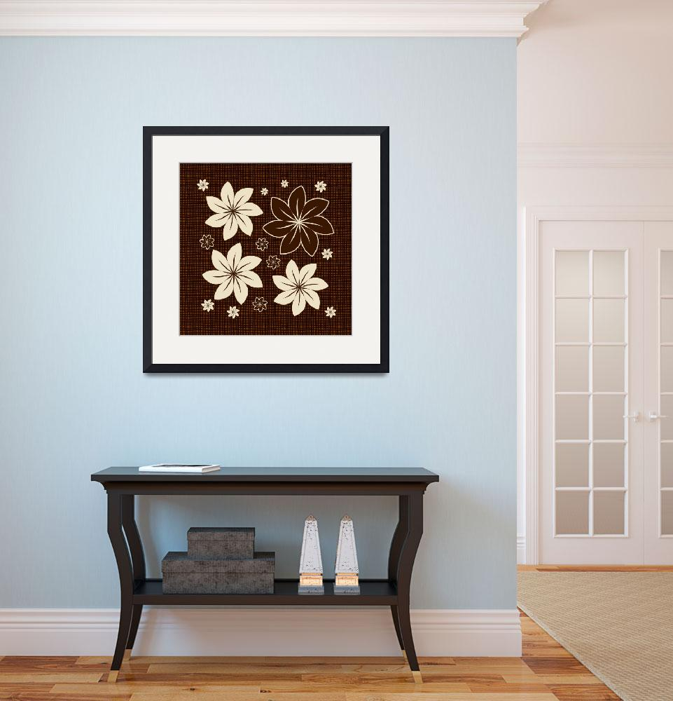 """""""Brown floral design&quot  (2013) by gavila"""