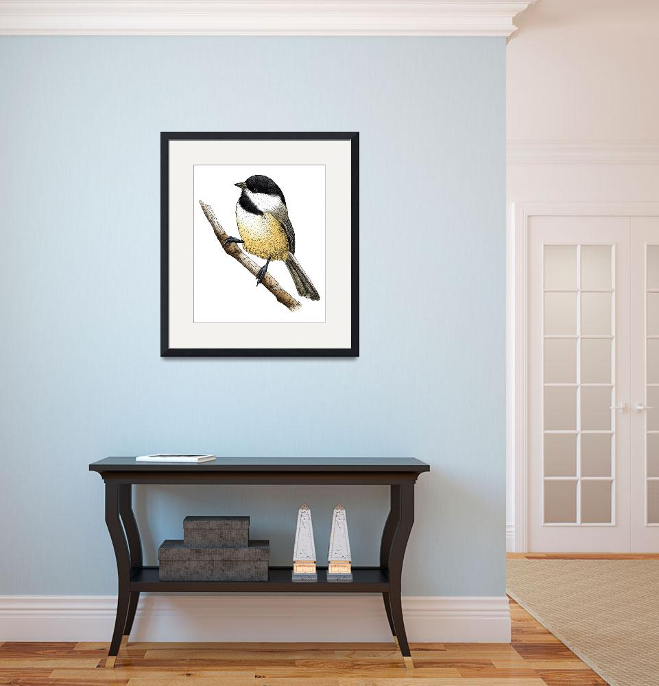"""""""Black-Capped Chickadee&quot  by inkart"""