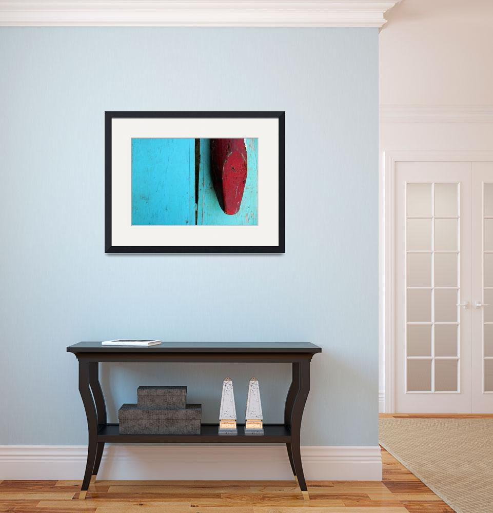 """""""Blue and Red Abstract Photo&quot  (2007) by JARPHOTO"""