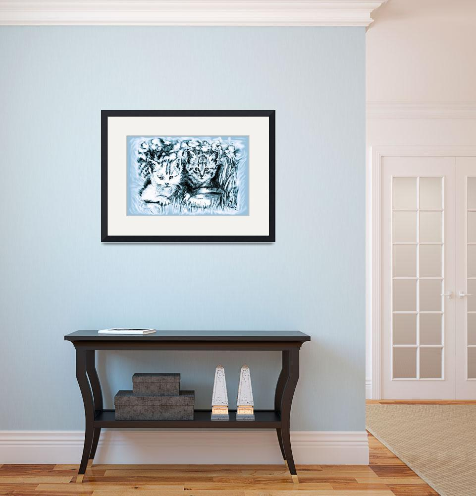"""""""Blue Baby Cats&quot  (2007) by GittaG74"""