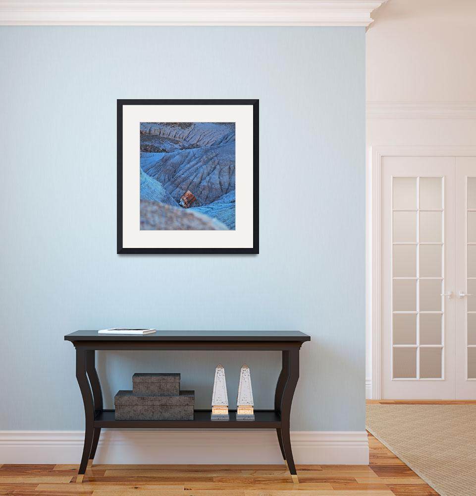 """""""petrified wood in blue canyon&quot  (2009) by lwoodburn"""