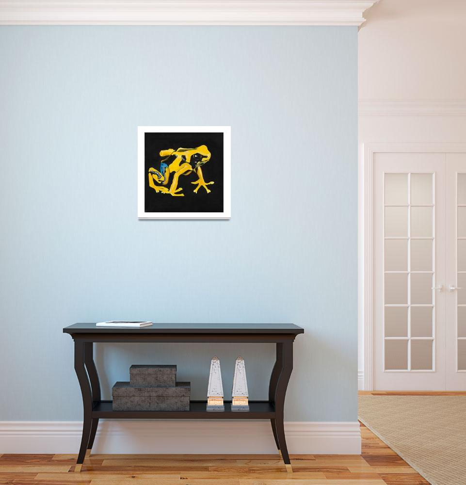"""""""Yellow Poison Arrow Frog""""  (2010) by odessa"""