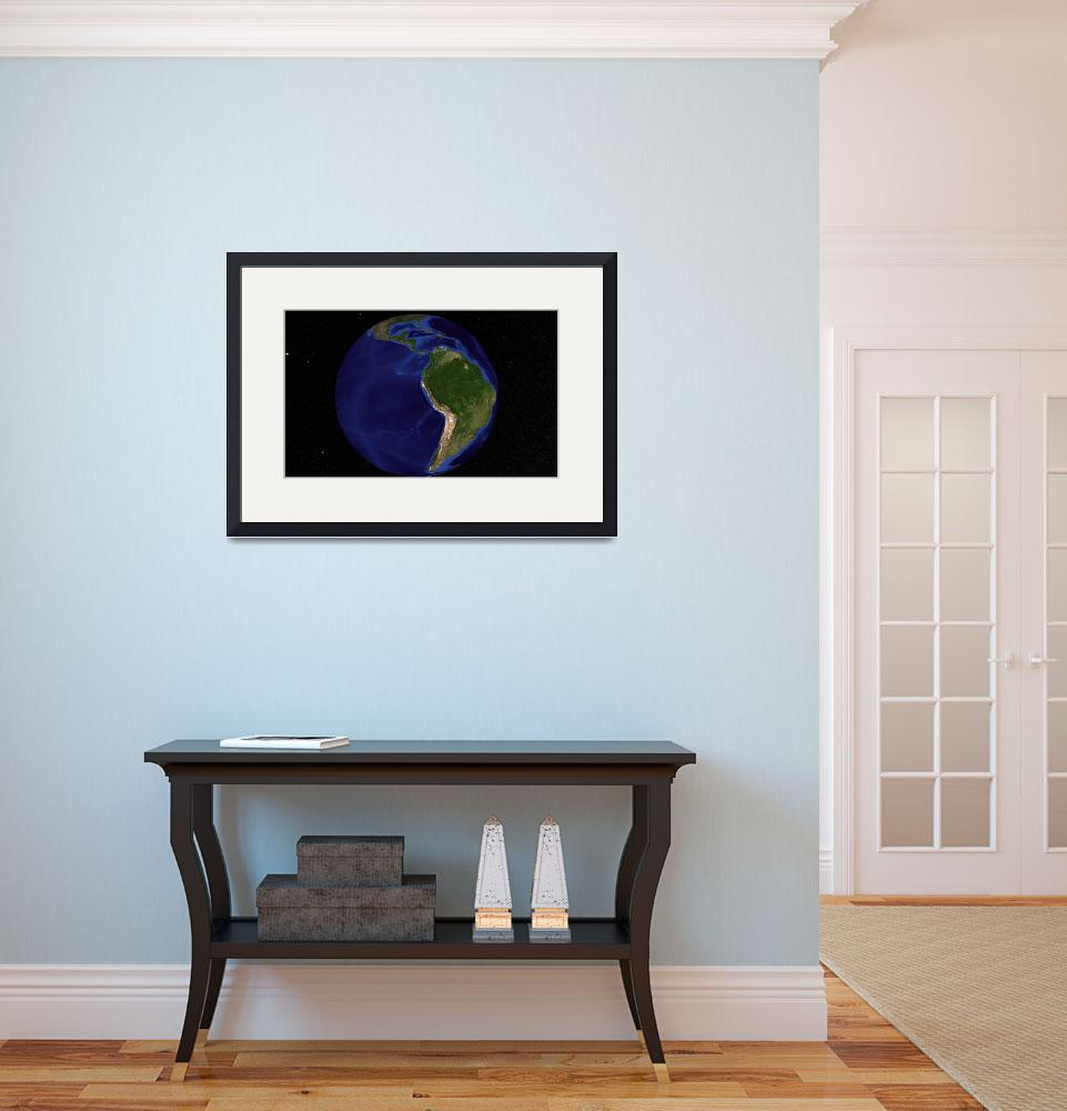 """""""Earth showing South America&quot  by stocktrekimages"""