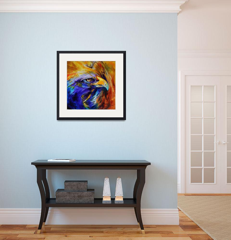 """""""GOLDEN EAGLE ABSTRACT&quot  (2011) by MBaldwinFineArt2006"""