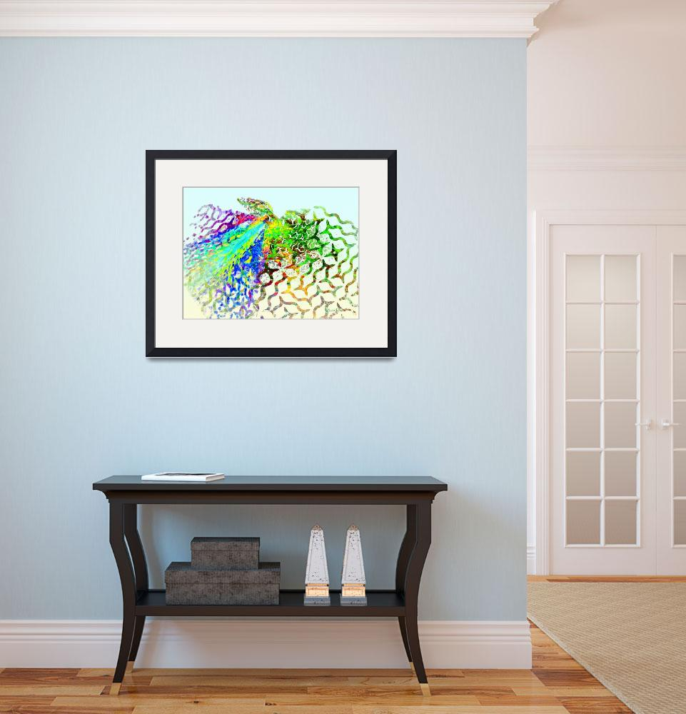 """Fractal - Hummingbird&quot  by susansartgallery"