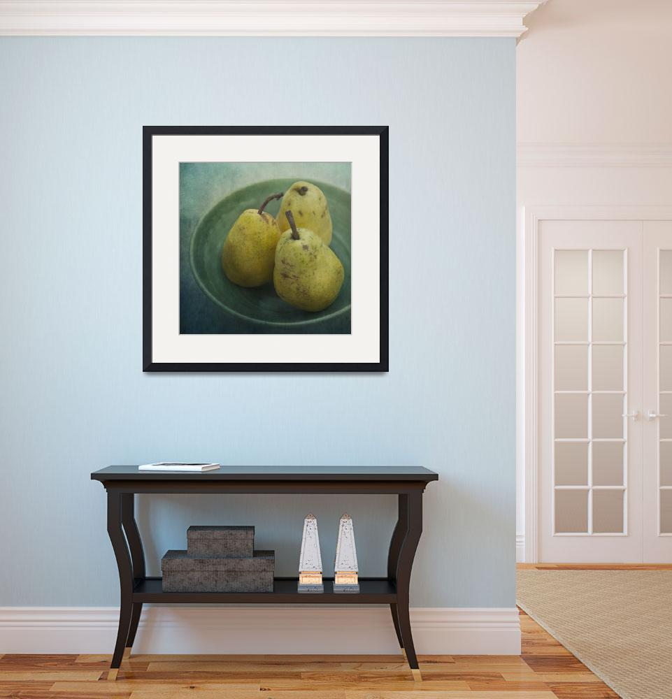 """""""pears in a square&quot  by Piri"""