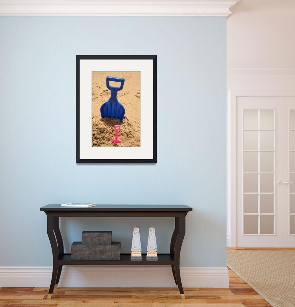 """""""Blue and Pink Shovel&quot  (2011) by DonnaCorless"""