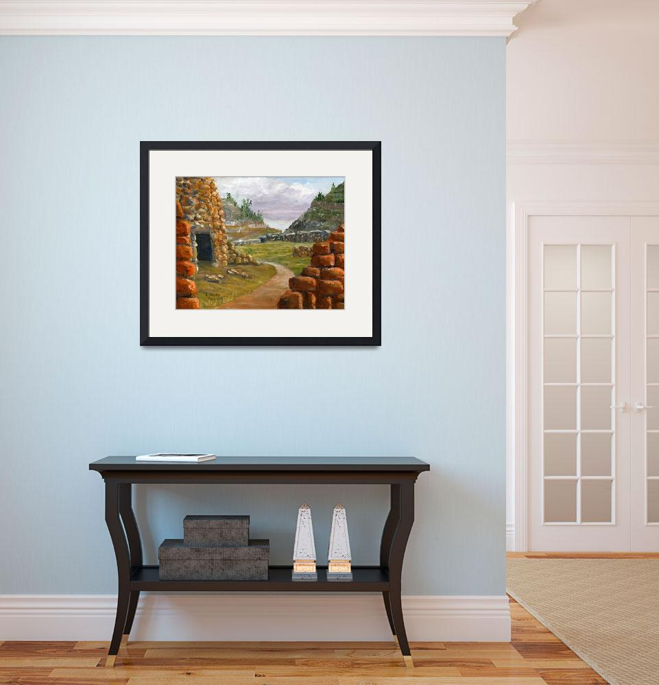 """""""Southwest Ruins from Acrylic Painting New Mexico&quot  (2012) by Lenora"""