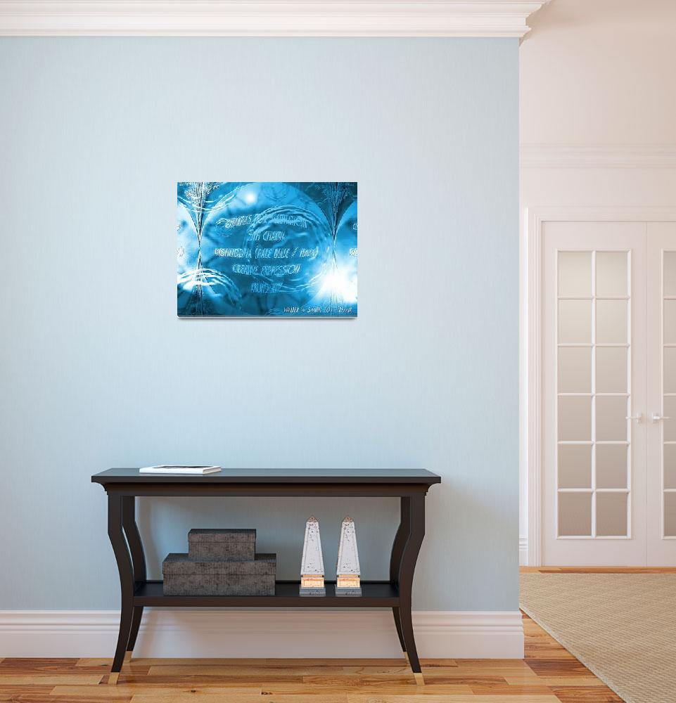 """""""Chakra Colors For Meditation Vishuddha Pale Blue&quot  (2012) by newdigitalscapes"""