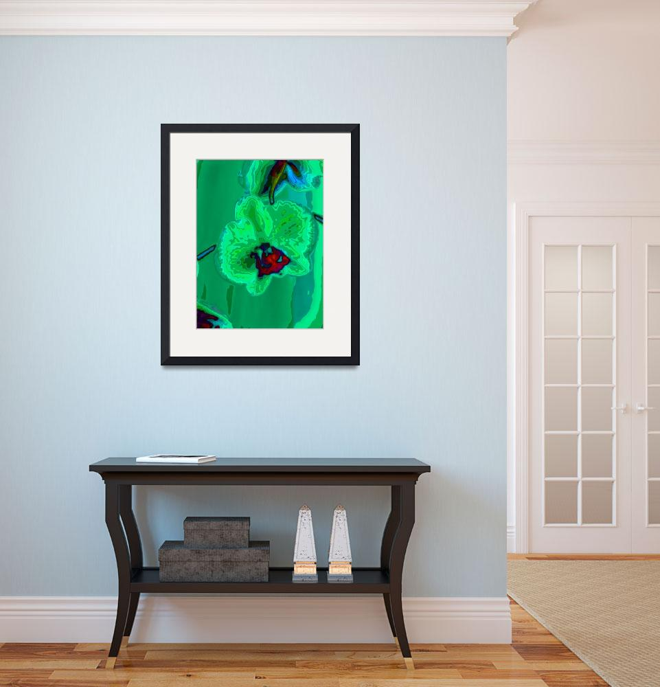 """""""green orchid&quot  (2009) by walbyent"""