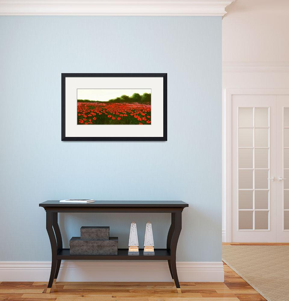 """""""fine-art-painting-poppies-new-emerald-isle_3200&quot  by grl"""