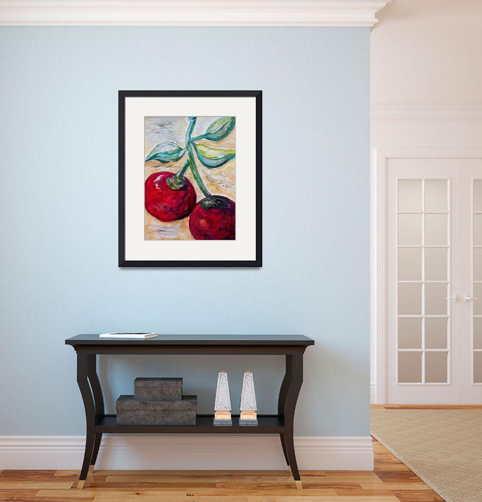 """""""Cherries on White Chocolate&quot  (2013) by EloiseArt"""